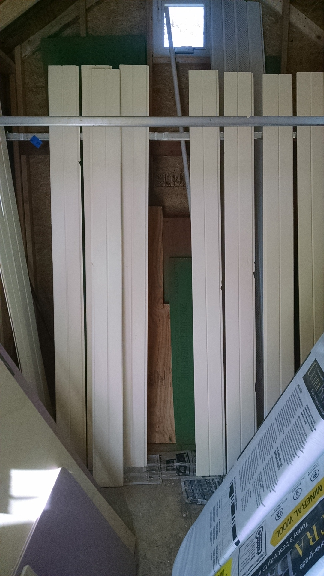 I painted the bottoms of the loft boards a light yellow