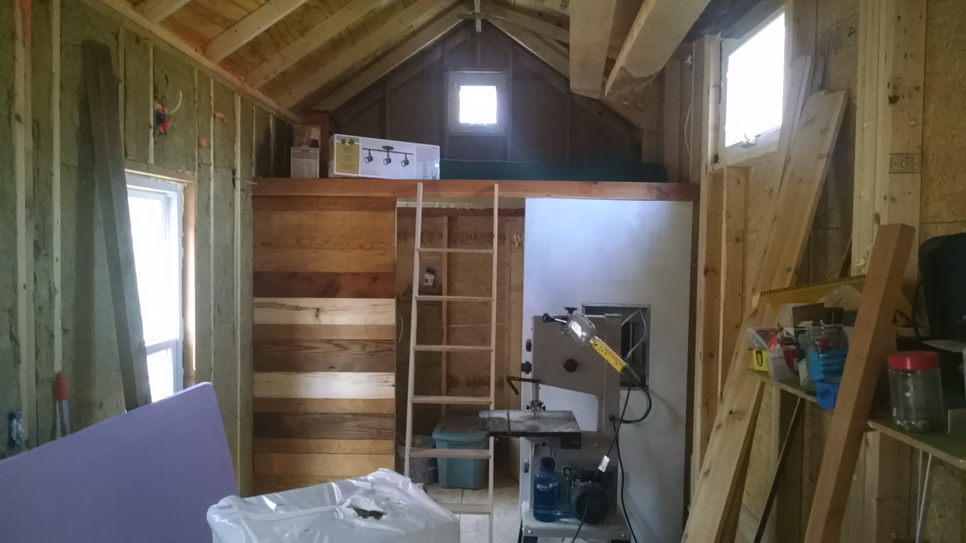 the bathroom loft, mostly finished