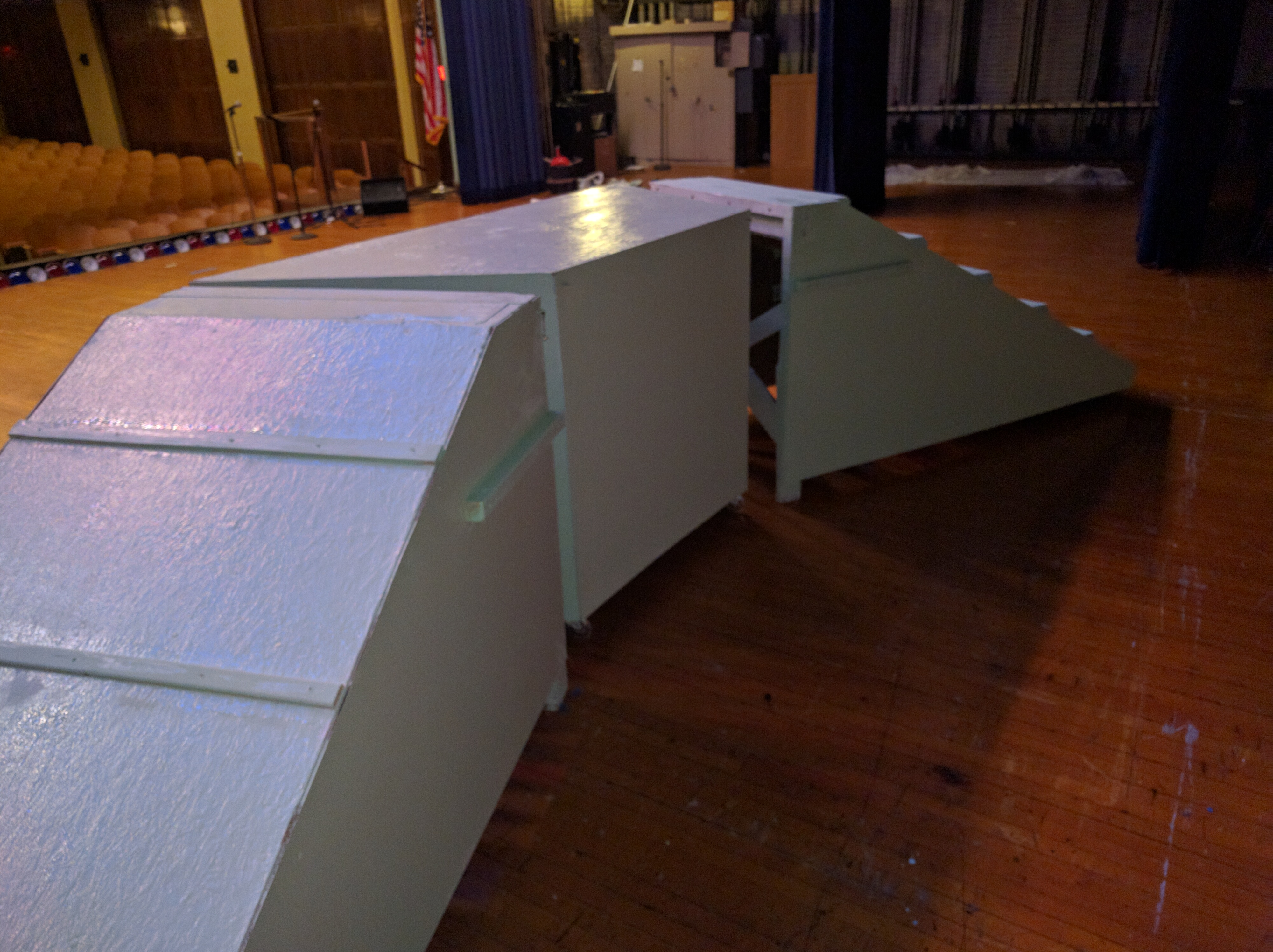 back view of three piece set made for school play